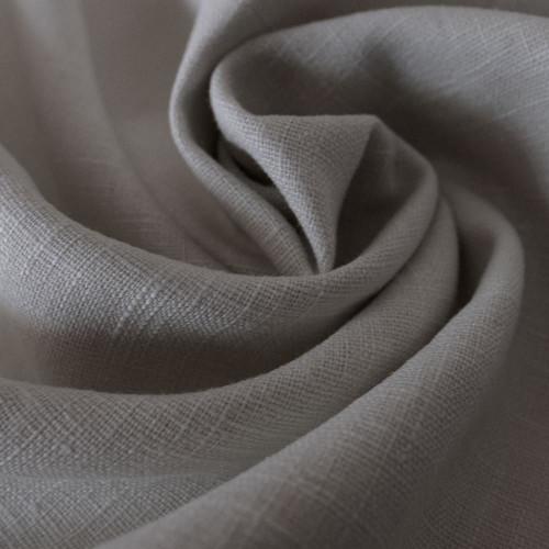Tissu 100% pur lin gris