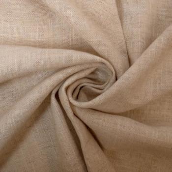 Tissu lin viscose beige
