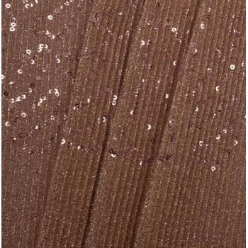 Tissu paillettes plissées cuivre