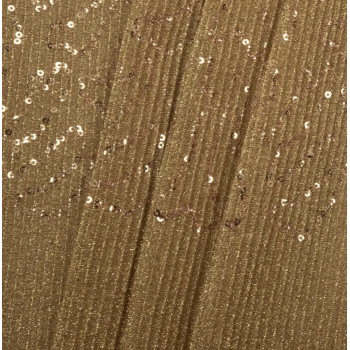 Gold pleated sequins fabric