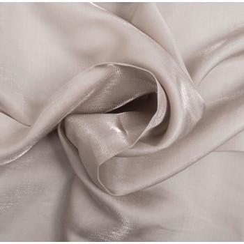 Tissu satin irisé blanc cassé
