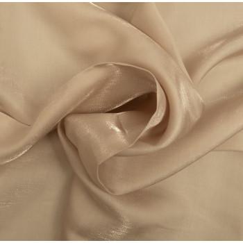 Tissu satin irisé ivoire