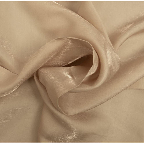 Ivory iridescent satin fabric