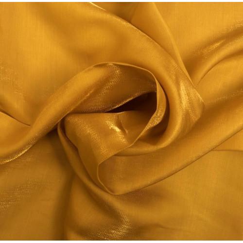 Tissu satin irisé jaune
