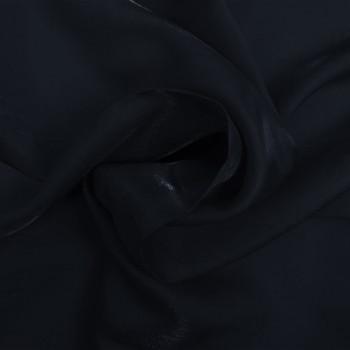 Tissu satin irisé bleu marine