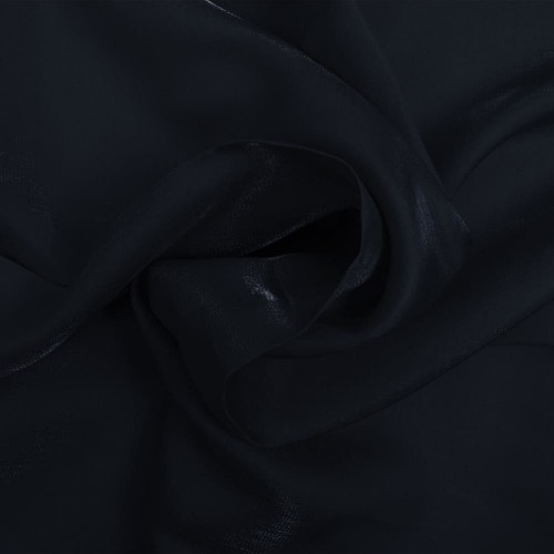Navy blue iridescent satin fabric