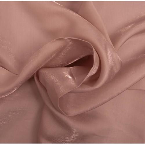 Tissu satin irisé rose
