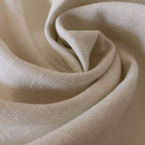 Tissu 100% pur lin sable