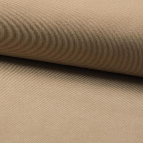 Tissu velours côtelé 100% coton beige sable