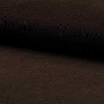 Tissu velours côtelé 100% coton marron