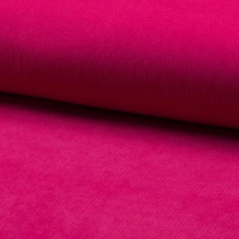 Tissu velours côtelé 100% coton fuschia