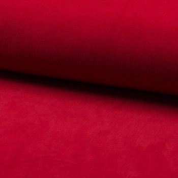 Corduroy fabric 100% cotton red
