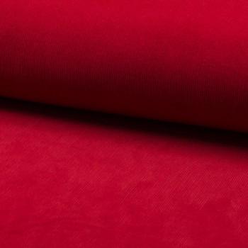 Tissu velours côtelé 100% coton rouge