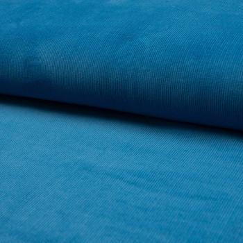 Tissu velours côtelé 100% coton bleu turquoise