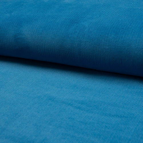 Corduroy fabric 100% cotton turquoise blue