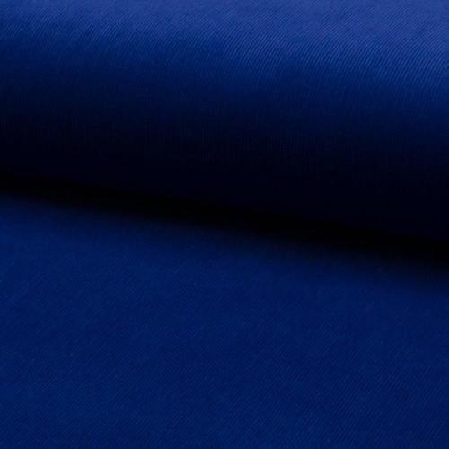 Tissu velours côtelé 100% coton bleu royal