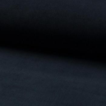 Tissu velours côtelé 100% coton bleu marine
