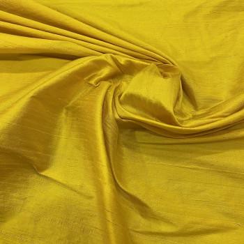 100% silk shimmer dupion fabric yellow