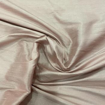 Tissu doupion de soie indien flammé 100% soie vieux rose