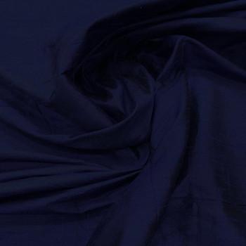 100% silk shimmer dupion fabric navy blue