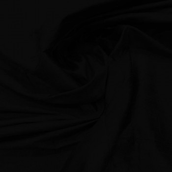 Tissu doupion de soie indien flammé 100% soie noir