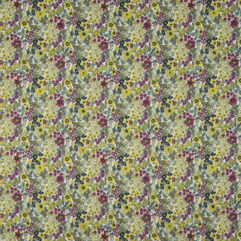 copy of 100% cotton poplin fabric with digital print green and yellow floral
