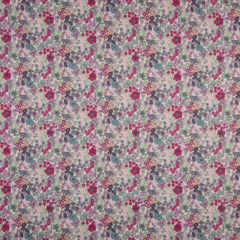 100% cotton poplin fabric with digital print pink floral