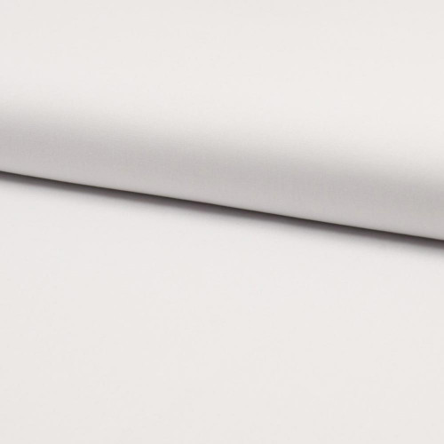 Tissu popeline 100% coton bio blanc