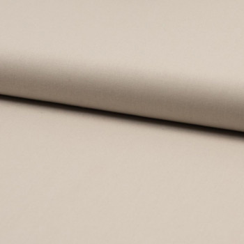 Tissu popeline 100% coton bio beige sable