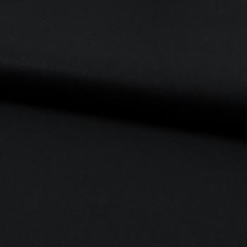 Tissu popeline 100% coton bio noir