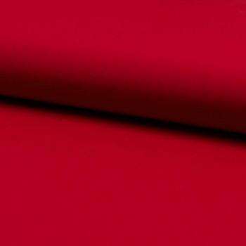 Tissu popeline 100% coton uni rouge