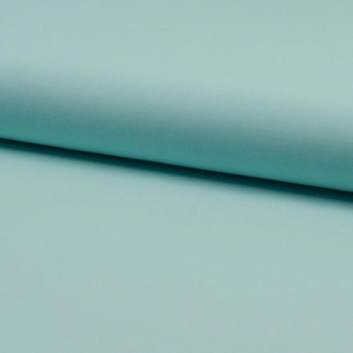 Tissu popeline 100% coton uni vert menthe