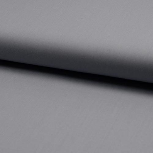 Tissu popeline 100% coton uni gris argent