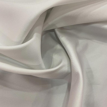 Mikado soft ivory white silk fabric (1.80 meters)