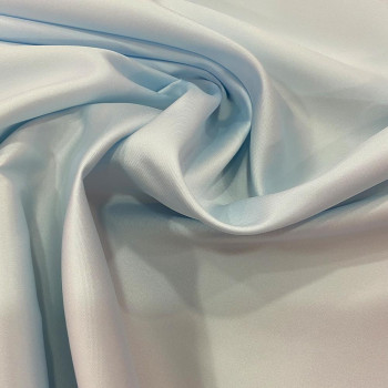 Mikado soft sky blue silk fabric