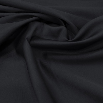 Mikado soft navy blue silk fabric