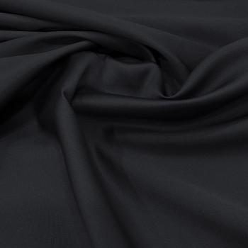 Mikado soft navy blue silk fabric