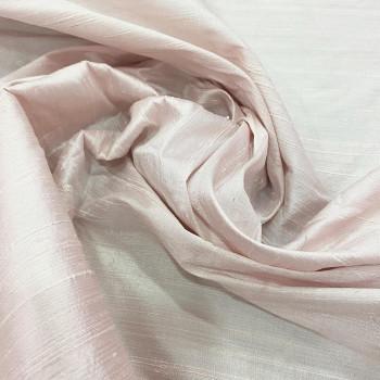 Tissu doupion de soie indien flammé 100% soie rose clair