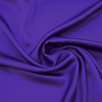 Purple satin cady crepe fabric