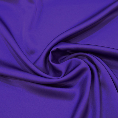 Purple satin cady crepe fabric