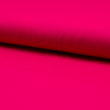Tissu popeline 100% coton uni fuchsia