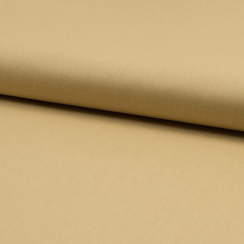 Tissu popeline 100% coton bio jaune paille