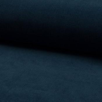 Corduroy fabric 100% cotton indigo blue