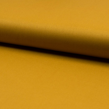 Tissu toile gabardine jaune ocre