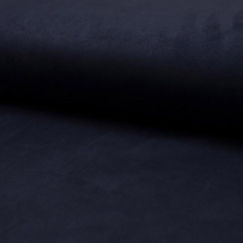 Tissu suédine scuba lourde bleu marine