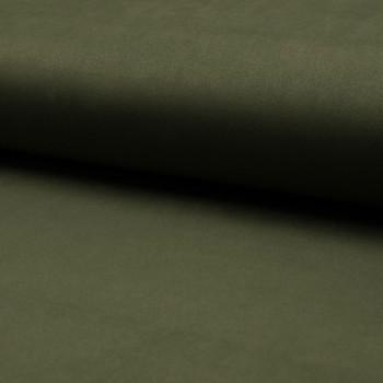 Tissu suédine scuba lourde vert kaki