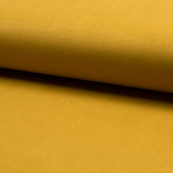 Ocher yellow heavy scuba suede fabric