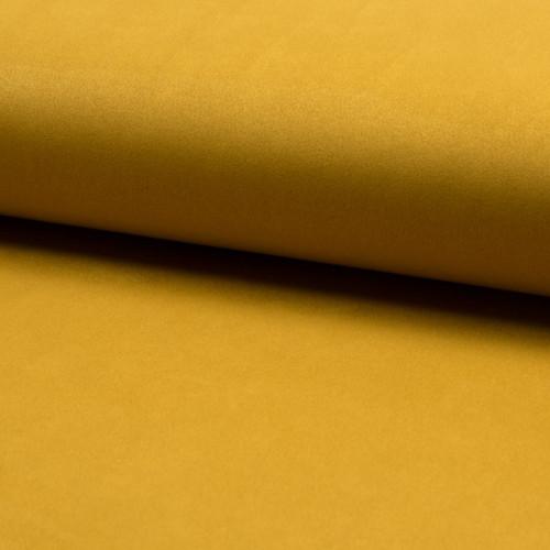 Tissu suédine scuba lourde jaune ocre
