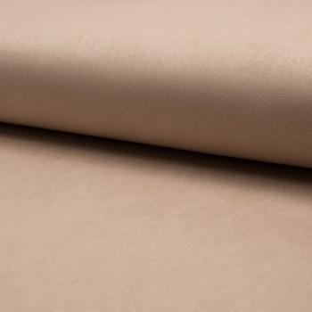 Beige heavy scuba suede fabric