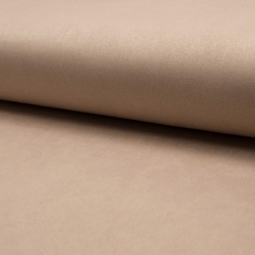 Tissu suédine scuba lourde beige